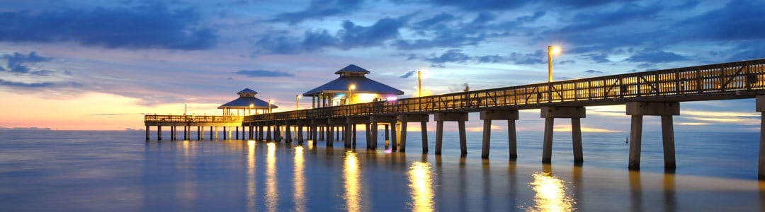 View of the pier at dusk