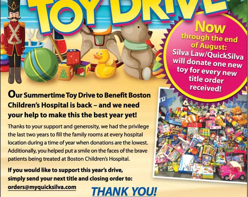 3rd Annual Summertime Toy Drive